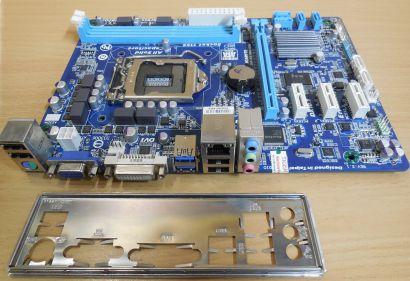 Gigabyte GA-H61MA-D3V Rev2.1 Mainboard +Blende Intel H61 Sockel 1155 DDR3* m790