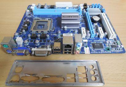Gigabyte GA-G41MT-D3V Rev 1.3 Mainboard +Blende Sockel 775 DDR3 PCIe GBLAN* m792