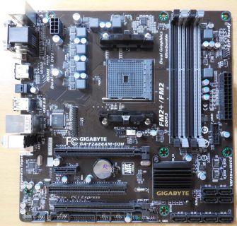 Gigabyte GA-F2A88XM-D3H Rev3.0 Mainboard +Blende AMD A88X Sockel FM2+ DDR3* m797