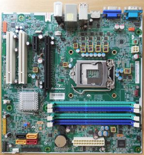 Lenovo M81 03T8005 IS6XM Ver 1.0 Mainboard +Blende Sockel 1155 PCIe DDR3* m802