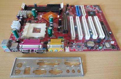 MSI MS-6330 K7T Turbo2 Mainboard +Blende Sockel A 462 SD-RAM AGP Audio* m803