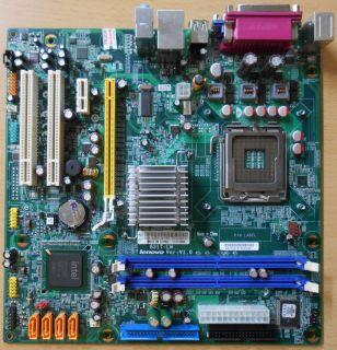 Lenovo G31T-LM L-IG31A V1.0 53Y3282 M57e Mainboard +Blende Sockel 775 DDR2* m805