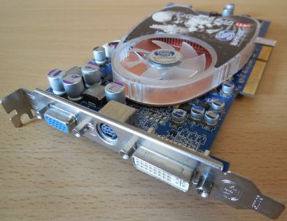 Sapphire Radeon X800 GT 256MB 256Bit GDDR3 AGP 8x VGA VIVO DVI Grafikkarte* g349