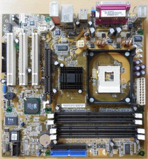 Asus P4S533-MX Rev2.00 Maxdata Mainboard+Blende Sockel 478 AGP VGA Audio* m195