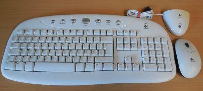 Logitech Cordless Internet Pro Y-RK56A Tastatur Maus kabellos 867436-0102*pz1000