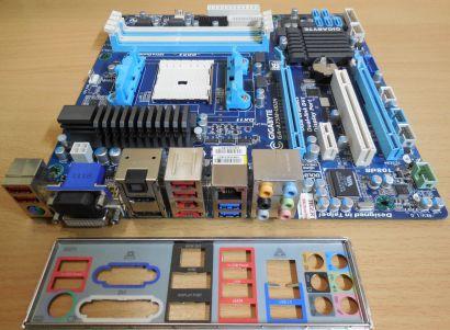 Gigabyte GA-A75M-UD2H Rev1.0 Mainboard+Blende AMD Sockel FM1 DDR3 USB3.0* m816