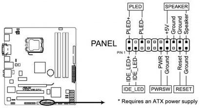 ASUS Q-Design Systemtafelanschluss 20-8 polige Panel für Asus Mainboard* pz2019