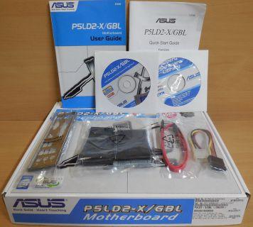 Asus P5LD2-X GBL Rev2.05G Mainboard NEU OVP Sockel 775 PCIe DDR2 Audio GLAN*m818