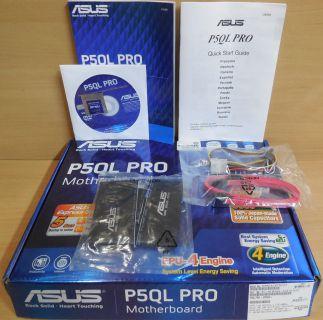 Asus P5QL Pro Rev1.00G Mainboard NEU OVP Sockel 775 Intel P43 PCIe DDR2 LAN*m819