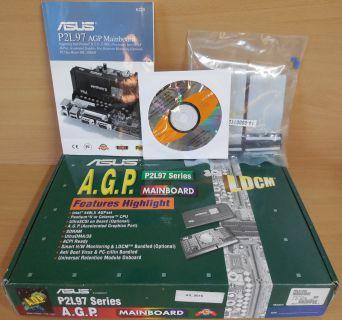 Asus P2L97 Rev 2.05 Mainboard NEU OVP Slot 1 Intel 440LX 2x ISA AGP PCI* m822