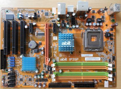 Abit IP35P V1.0 Mainboard+Blende Intel P35 Sockel 775 DDR2 PCIe GbLAN Audio*m823