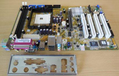 Asus K8U-X Rev 1.02 Mainboard NEU OVP Sockel 754 AGP8X DDR 5.1 Audio SATA* m827