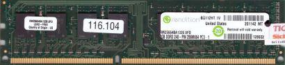 rendition RM25664BA1339 8FD PC3-10600 2GB DDR3 1333MHz Arbeitsspeicher RAM* r410