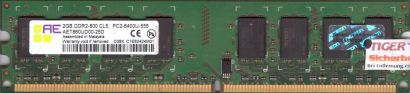 Aeneon AET860UD00-25D PC2-6400 2GB DDR2 800MHz Arbeitsspeicher RAM* r411