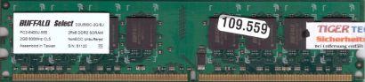 Buffalo Select D2U800C-2G BJ PC2-6400 2GB DDR2 800MHz Arbeitsspeicher RAM* r414