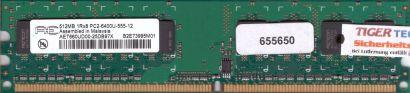 Aeneon AET660UD00-25DB97X PC2-6400 512MB DDR2 800MHz Arbeitsspeicher RAM* r419