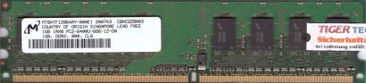 Micron MT8HTF12864AY-800E1 PC2-6400 1GB DDR2 800MHz HP 404574-888 RAM* r420