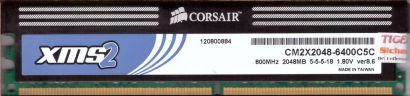 Corsair XMS2 4GB Kit 2x 2GB CM2X2048-6400C5C PC2-6400 DDR2 800MHz RAM* r422