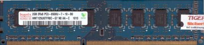 Hynix HMT125U6TFR8C-G7 N0 PC3-8500 2GB DDR3 1066MHz Arbeitsspeicher RAM* r423