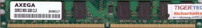 Axega PC2-6400 2GB DDR2 800MHz CL5 Arbeitsspeicher RAM* r426