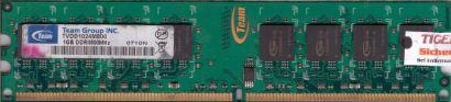 Team Group TVDD1024M800 PC2-6400 1GB DDR2 800MHz Arbeitsspeicher RAM* r431