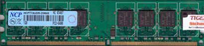 NCP NCPT7AUDR-25M48 PC2-6400 1GB DDR2 800MHz Arbeitsspeicher RAM* r432