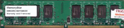Memory Star PC2-6400 1GB DDR2 800MHz Arbeitsspeicher RAM* r433
