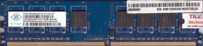 Nanya NT512T64U88A1BY-3C PC2-5300 512MB DDR2 667MHz Arbeitsspeicher RAM* r435