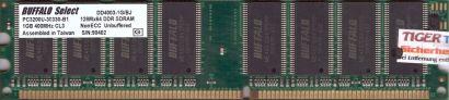 Buffalo DD4003-1G BJ PC3200 CL3 1GB DDR1 400MHz Arbeitsspeicher RAM* r442