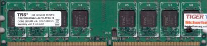 TRS TRSDD2001G64U 667CL5FGX-16 PC2-5300 1GB DDR2 667MHz Arbeitsspeicher RAM*r443