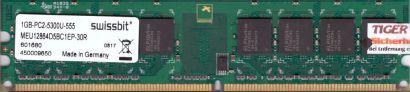 Swissbit MEU12864D5BC1EP-30R PC2-5300 1GB DDR2 667MHz Arbeitsspeicher RAM* r447