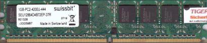 Swissbit SEU12864D4B72EP-37R PC2-4200 1GB DDR2 533MHz Arbeitsspeicher RAM* r450