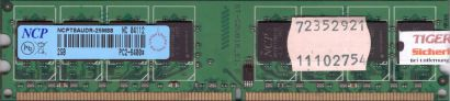 NCP NCPT8AUDR-25M88 PC2-6400 2GB DDR2 800MHz Arbeitsspeicher RAM* r457