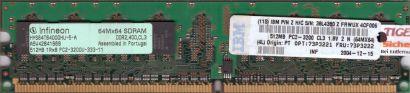Infineon HYS64T64000HU-5-A PC2-3200 512MB DDR2 400MHz Arbeitsspeicher RAM* r458