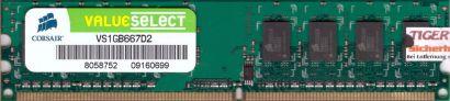 Corsair ValueSelect VS1GB667D2 PC2-5300 1GB DDR2 667MHz Arbeitsspeicher RAM*r460