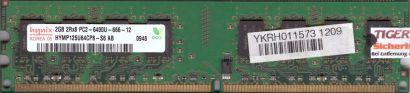 Hynix HYMP125U64CP8-S6 AB PC2-6400U CL6 2GB DDR2 800MHz Arbeitsspeicher RAM*r466