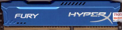 Kingston HyperX Fury blau HX316C10F 4 PC3-12800 4GB DDR3 1600MHz RAM blue* r468