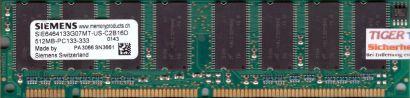 Siemens SIE6464133G07MT-US-C2B16D PC133 512MB SDRAM 133MHz SD RAM* r473