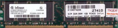 Infineon HYS64D128320HU-5-C PC-3200 1GB DDR1 400MHz Arbeitsspeicher RAM* r478