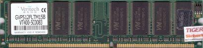 Veritech GVP512FLTM15B PC-3200 512MB DDR1 400MHz Arbeitsspeicher RAM* r482