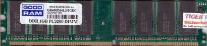 GOOD RAM GR400D64L3-2GDC PC-3200 1GB DDR1 400MHz Arbeitsspeicher RAM* r483