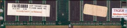 NoName PC-3200 1GB DDR1 400MHz Arbeitsspeicher DDR RAM mit Infineon Chips* r484
