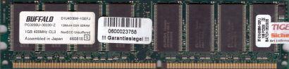 Buffalo D1U400BW-1GEFJ PC3200 CL3 1GB DDR1 400MHz Arbeitsspeicher RAM* r486