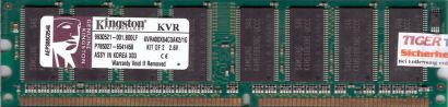 Kingston KVR400X64C3AK2 1G PC-3200 512MB DDR1 400MHz 9930521-001 B00LF RAM* r488