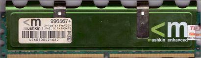 Mushkin Enhanced 2GB Kit 2x 1GB 996567+ PC2-6400 DDR2 800MHz CL4-5-5-12 RAM*r490