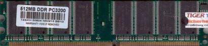 NoName PC-3200 512MB DDR1 400MHz Arbeitsspeicher DDR RAM mit Infineon Chips*r492
