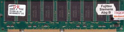 Samsung M374S6453CTS-C7C PC133 512MB SDRAM 133MHz Arbeitsspeicher ECC RAM* r493