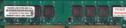 EUDAR MD00ES1012M-0643 PC2-4200 1GB DDR2 533MHz CL4 Arbeitsspeicher RAM* r497