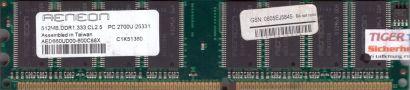 Aeneon AED660UD00-600C88X PC-2700 512MB DDR1 333MHz Arbeitsspeicher DDR RAM*r506
