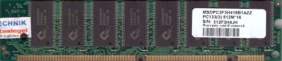 ADATA MSOPC3F3H418B1AZZ PC133 512MB SDRAM 133MHz Arbeitsspeicher SD RAM* r508
